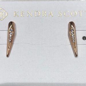 KENDRA SCOTT Montgomery stud earrings - ROSE GOLD